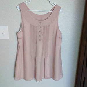 Soft Surroundings pink sleeveless blouse Large